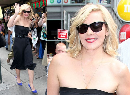 Photos of Kim Cattrall Filming Sex and the City Movie 2 in Manhattan