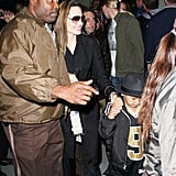 Photos of the Jolie-Pitts at the Super Bowl