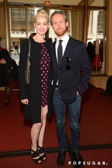 Anne Hathaway and Adam Shulman at Lincoln Center