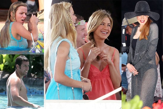 Pictures of Jennifer Aniston, Shirtless Adam Sandler, Brooklyn Decker, and Nicole Kidman Filming Just Go With It in Hawaii