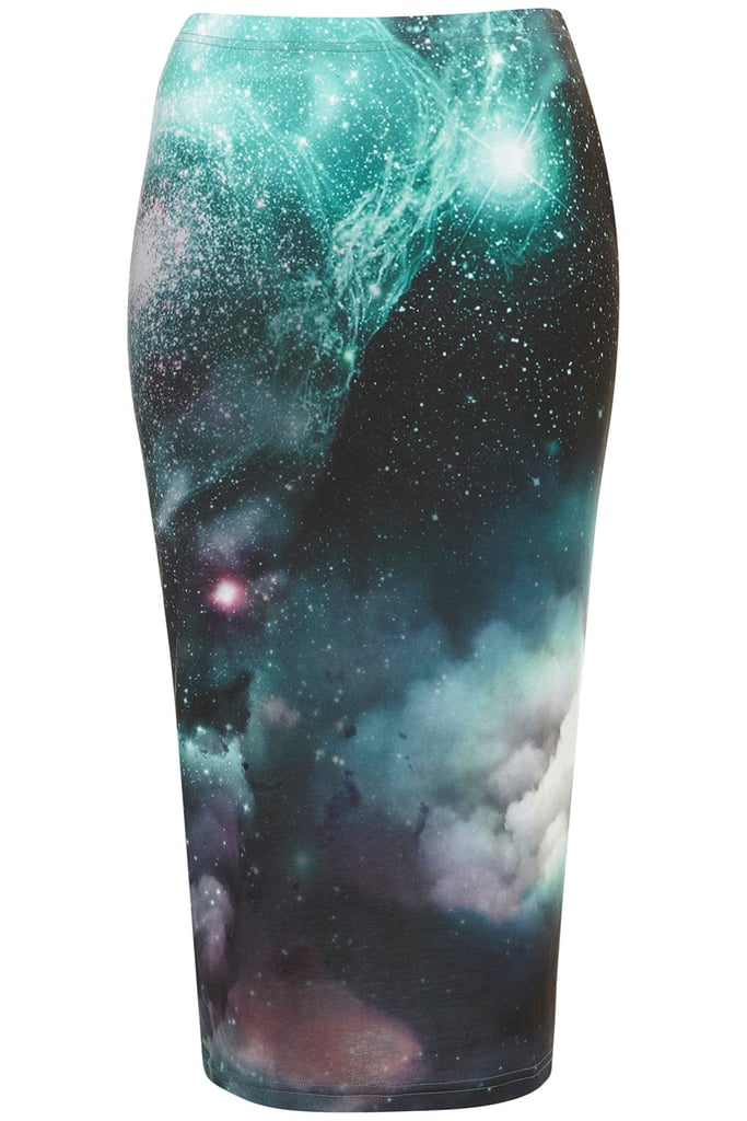 Cosmic Printed Tube Skirt ($56)
