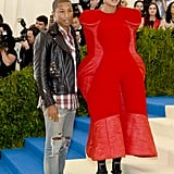 Pharrell Williams and Wife at the Met Gala 2017