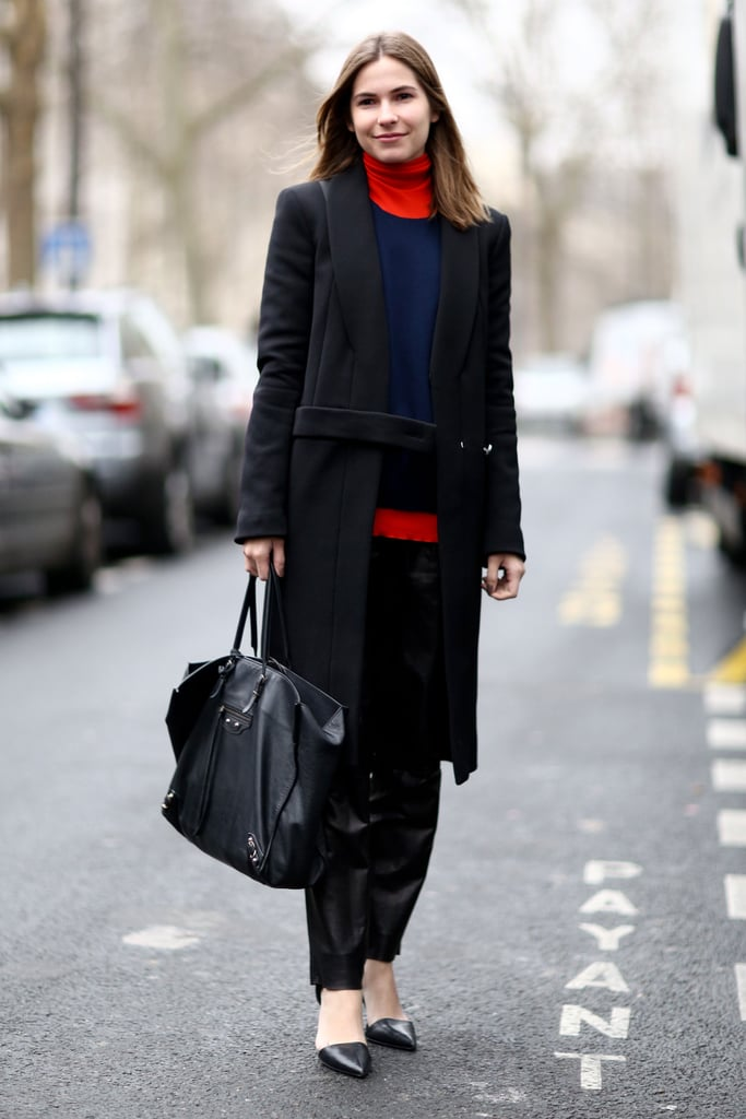 Colorblocking gave this street style more statement power.