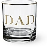 "Williams-Sonoma Gold Monogram ""Dad"" Double Old-Fashioned"
