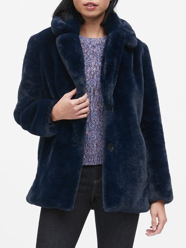 Banana Republic Faux Fur Jacket