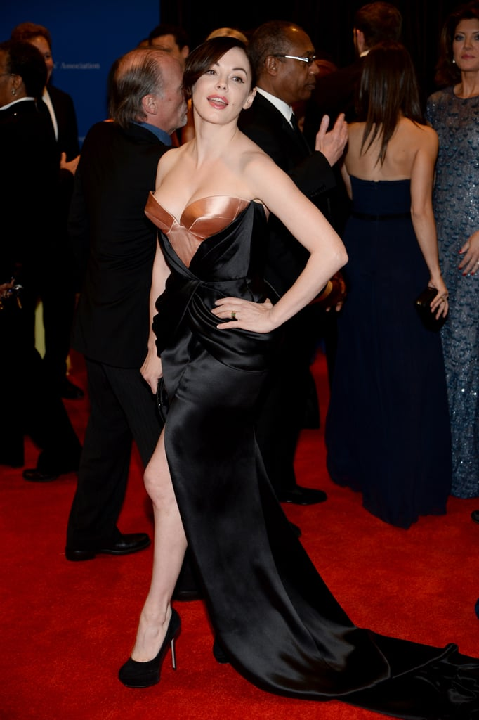 Rose Mcgowan Struck A Pose Celebrities At The White