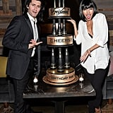 Matthew Morrison and Renee Puente as Vincent Vega and Mia Wallace from Pulp Fiction