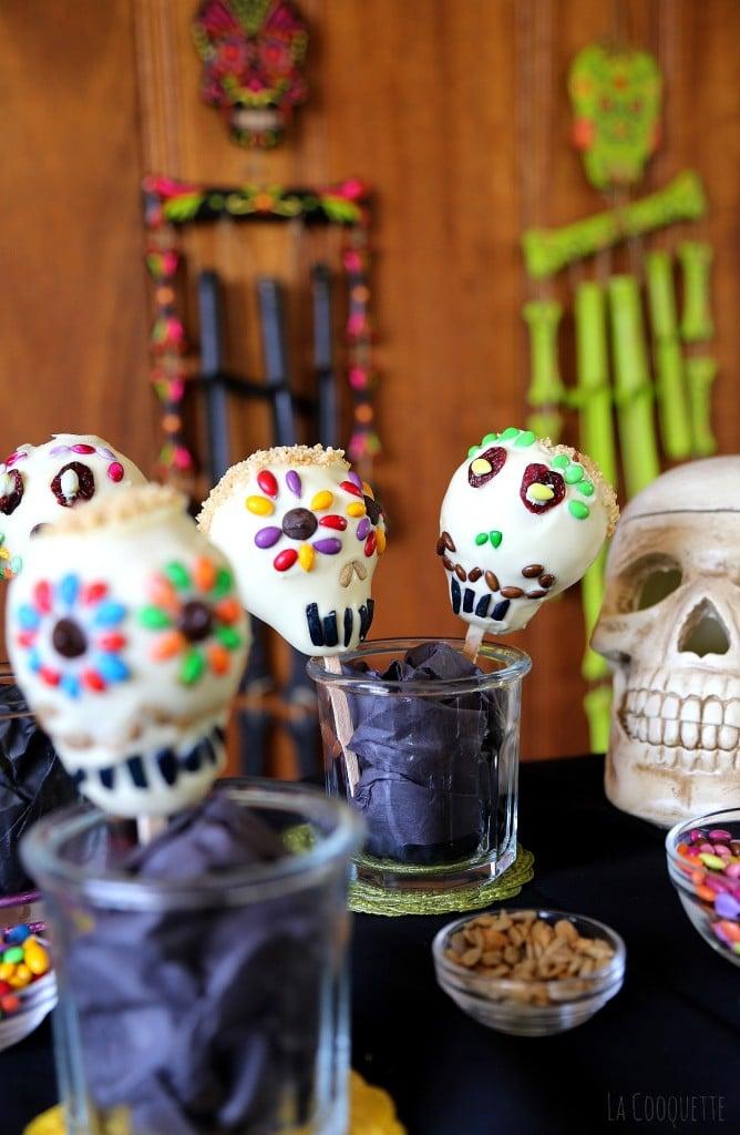 White Chocolate Pear Skulls