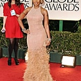 Mary J. Blige at the Golden Globes.