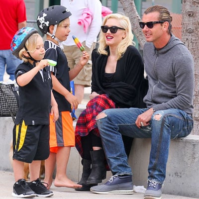 Gwen Stefani Spends Easter Sunday With Family