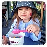 Harper Smith's Sunday fun day included a stop for frozen yogurt. Source: Instagram user tathiessen