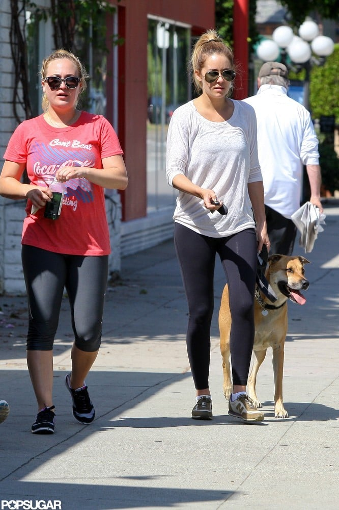 Lauren Conrad and her dog were out and about in LA.