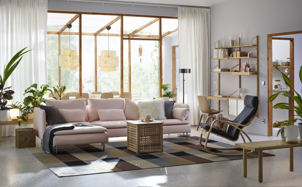 SÖDERHAMN 3-Seat Sofa and Chaise Lounge, $998