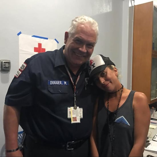 Lady Gaga Volunteers at Red Cross During California Fires