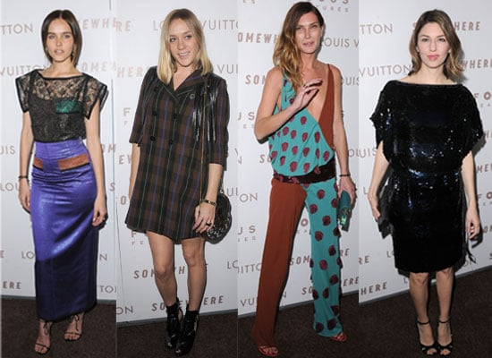 Party people at Sofia Coppola's Somewhere Premiere, including Chloe Sevigny, Erin Wasson and Elle Fanning