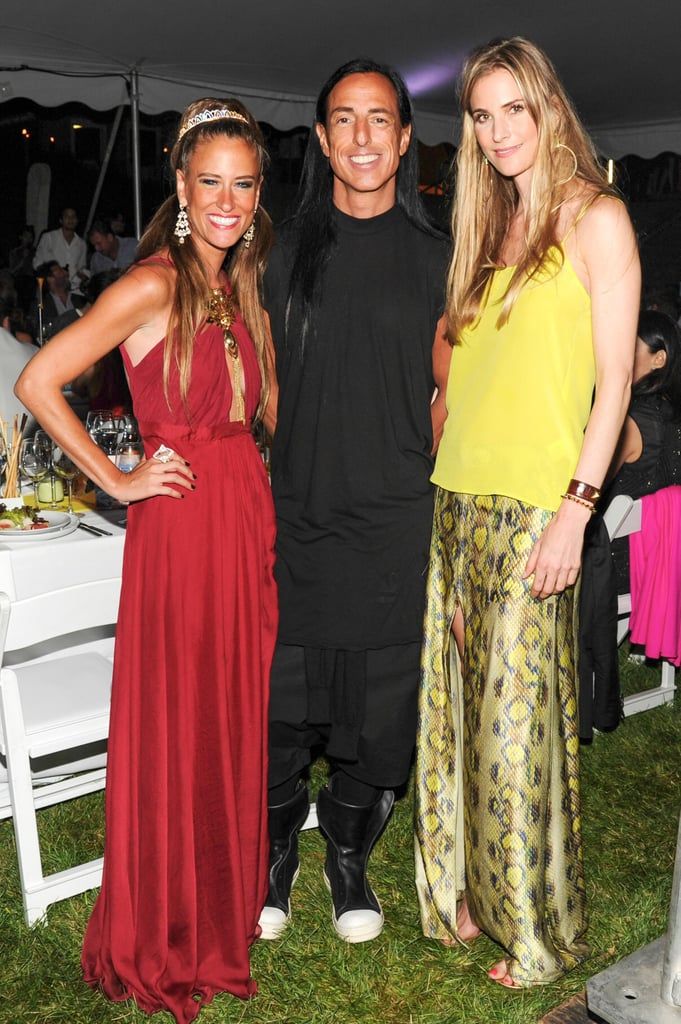 Rick Owens balanced the bright colors of Stacy Engman and Annelise Peterson's bright designs at the annual Watermill Center Summer benefit.