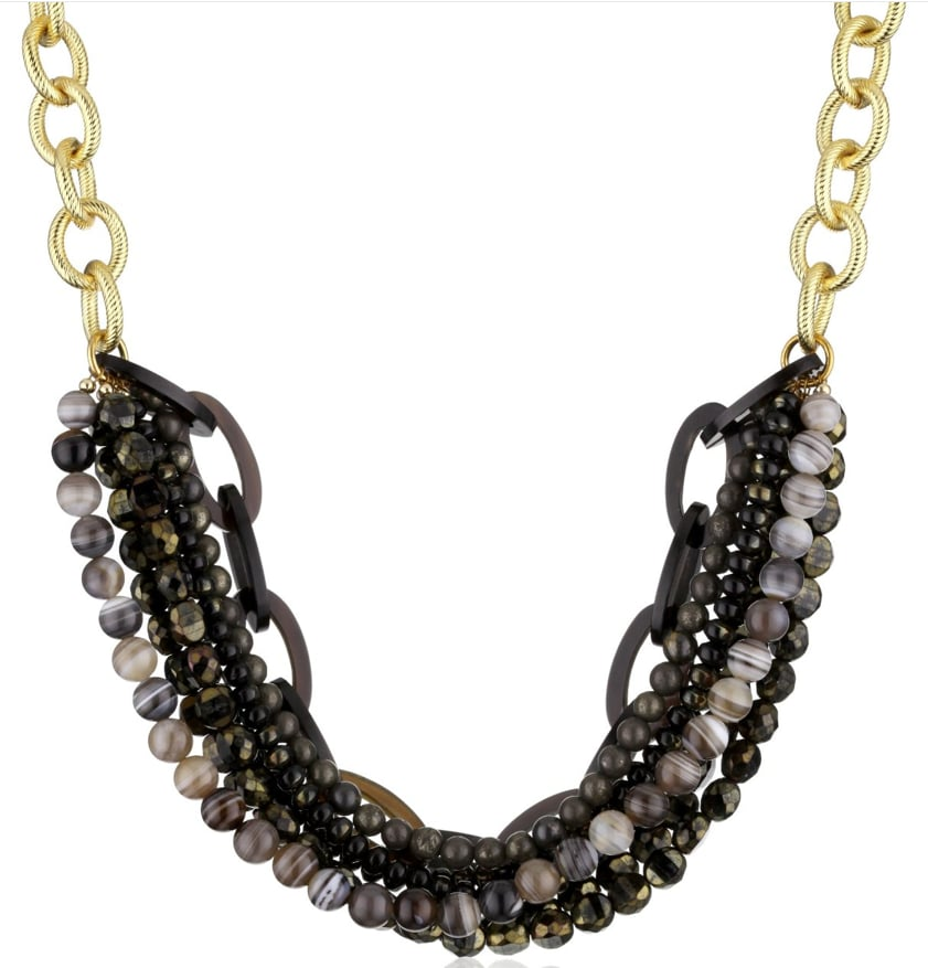 Amanda Pearl Semi-Precious Multi-Strand and Chain Necklace ($285, originally $395)