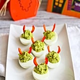 Devilish Avocado Sriracha Deviled Eggs