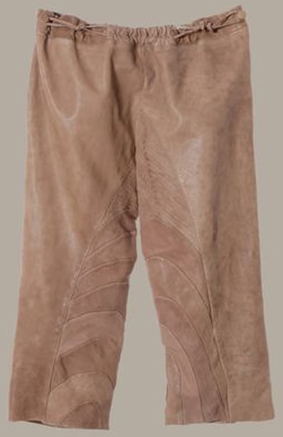 Washed Leather Pants