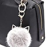 Cat Ear Pom Pom Puff Keychain