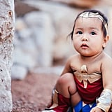 Baby Wonder Woman Costume Photo Shoot