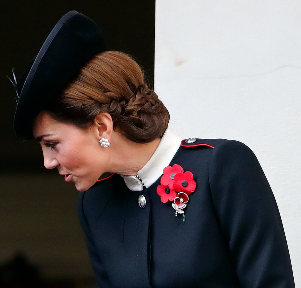 Kate Middleton's French-Braided Bun, 2018