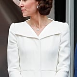 She Even Looks Great in a Side-Swept Updo.