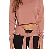 Kendall + Kylie Tie-Front Turtleneck Sweater