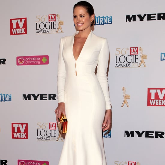 Jesinta Campbell at the 2014 Logie Awards in J'Aton Couture