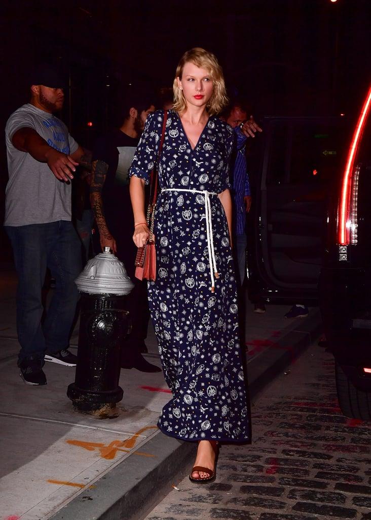 Taylor Swift Wearing a Tommy x Gigi Dress September 2016