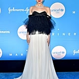 Sofia Carson Black and White Giambattista Valli Couture Gown