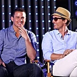 Channing Tatum and Matthew McConaughey had a laugh while on stage talking about their new film.