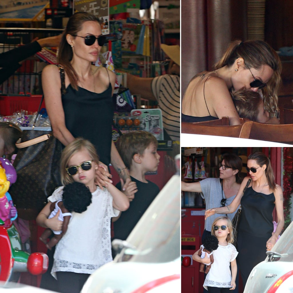 Angelina Jolie With Twins Vivienne and Knox in Sydney