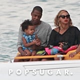 Beyoncé and Jay Z rode on a small boat with Blue Ivy.
