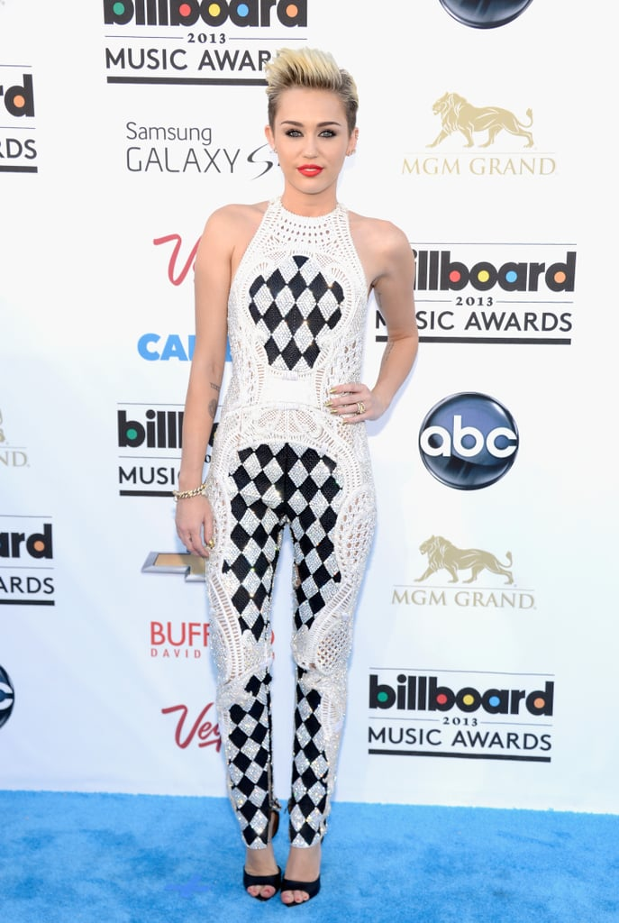 Miley Cyrus wore Balmain at the 2013 Billboard Music Awards in Las Vegas.