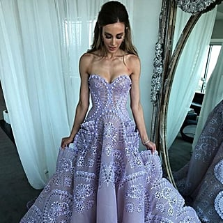 Rebecca Judd Purple Dress Brownlow Medal Red Carpet 2018