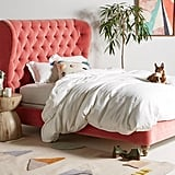 Tufted Wingback Bed