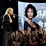 Christina Aguilera at the 2017 American Music Awards