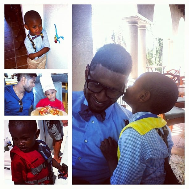 Usher spent Father's Day with his stylish sons. Source: Instagram user howuseeit
