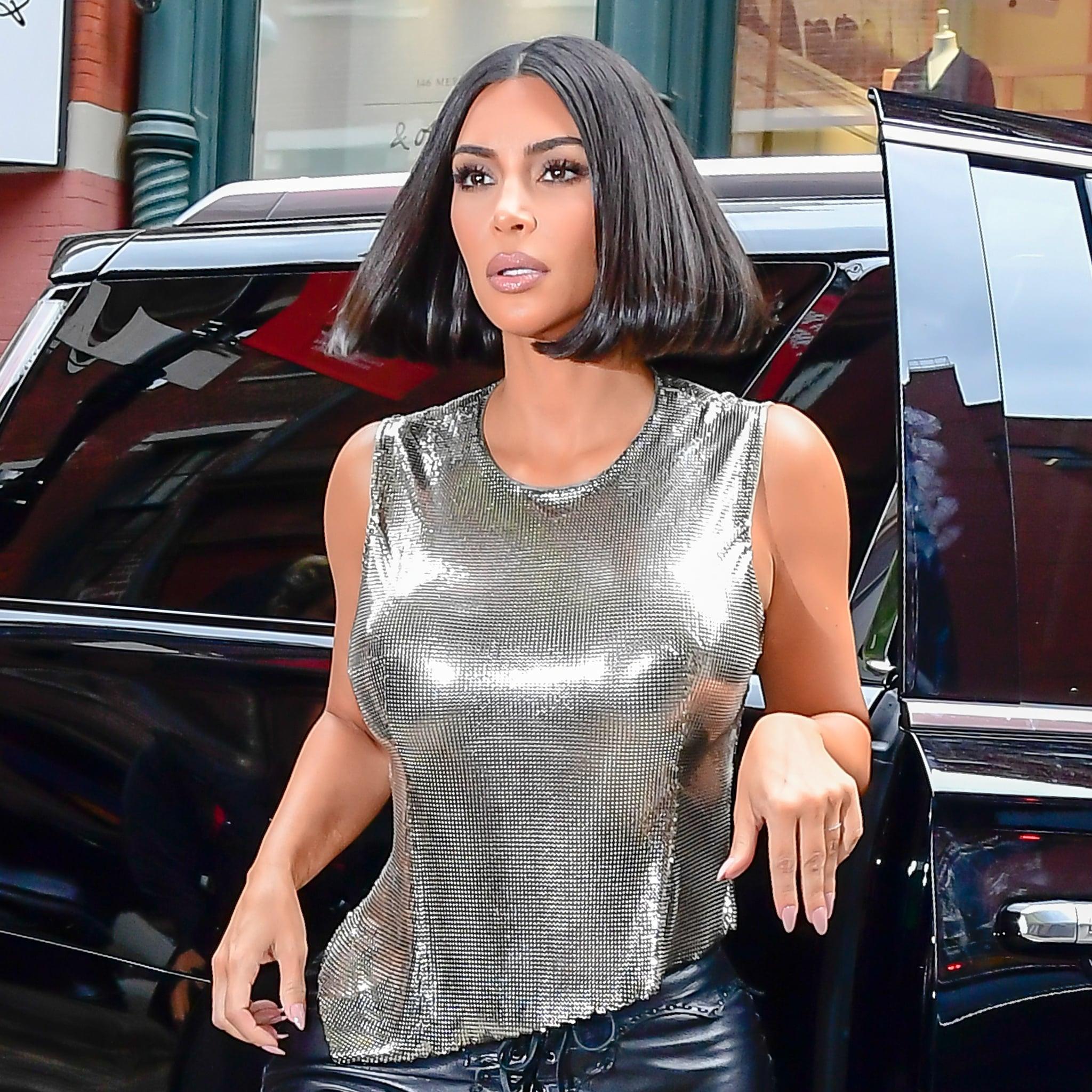 Kim Kardashian S Short Bob Haircut Photos Popsugar Beauty