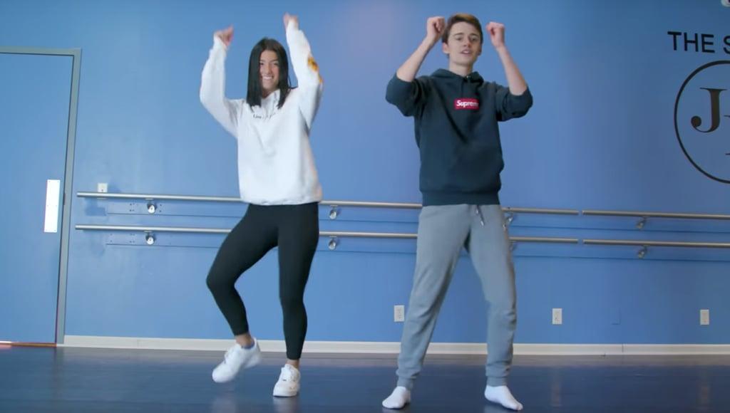 Charli D'Amelio Teaches Noah Schnapp TikTok Dances | Video