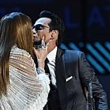Jennifer Lopez Kissing Marc Anthony at Latin Grammys 2016