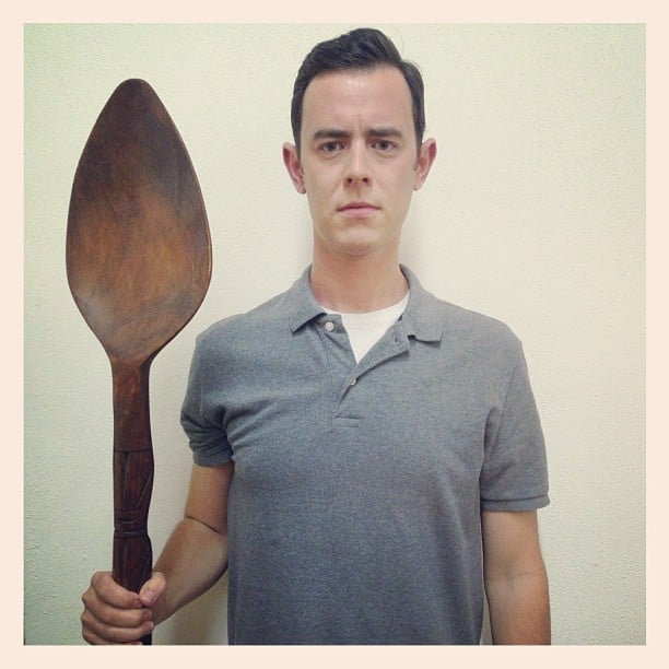 Colin Hanks posed with a giant wooden spoon. | Celebrity ...