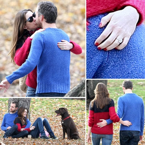 Anne Hathaway Diamond Engagement Ring Pictures POPSUGAR Celebrity