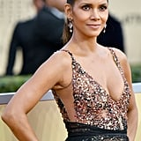 Halle Berry's Shaved Hair at the 2018 SAG Awards