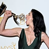 Sarah Silverman showed off her big Emmy appetite.