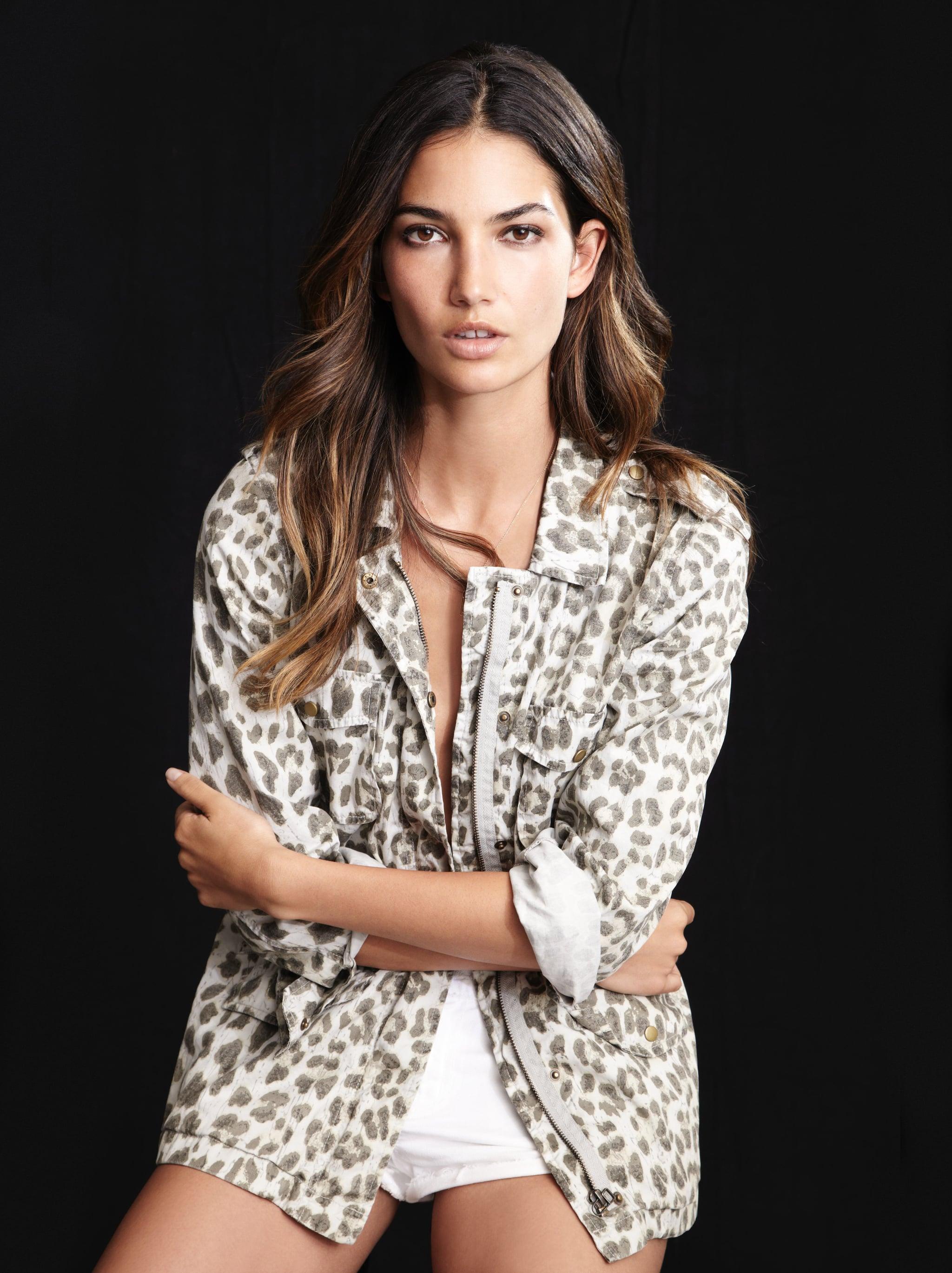 b27eeb031927d6 Lily Aldridge For Velvet Aziya Leopard Army Jacket ($158) Source: Courtesy  of Velvet