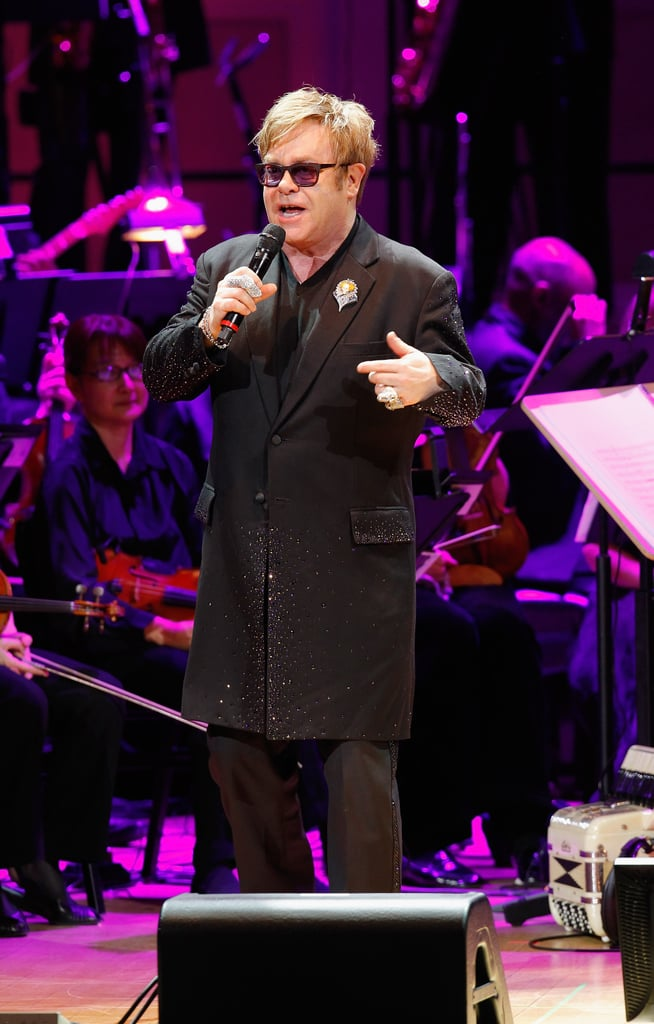 Elton John performed at the Revlon Concert for the Rainforest Fund at Carnegie Hall in NYC.