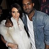 Kim Kardashian and Kanye West in 2012