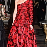 For a charity event in Paris in 1988, Diana wore a big, bold, shiny, floor-sweeping gown by Catherine Walker.